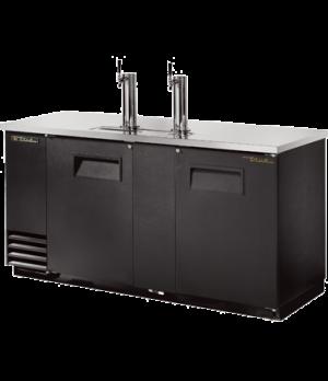 Draft Beer Cooler, (3) keg capacity, stainless steel counter top, black vinyl ex