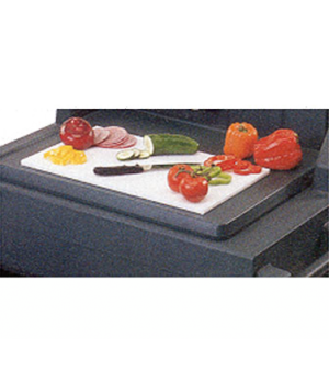 "Cutting Board, 13-1/8"" x 21"", white polyethylene, for Vending Carts"