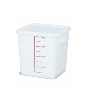 Space Saving Storage Container, 8 qt., square, commercial dishwasher safe with d