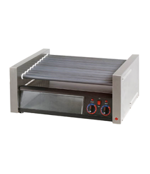 Star Grill-Max Pro® Hot Dog Grill, roller-type, bun holder with clear door, Dura