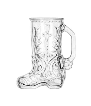 "Boot Mug, 1/2 liter (17 oz.), (H 6-1/2""; T 3-1/4""; B 3-7/8""; D 5-5/8"")"