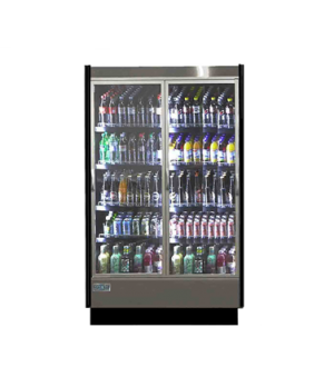 High Volume Refrigerated Merchandiser, reach-in, 2-section, multiplexable, 51-1/