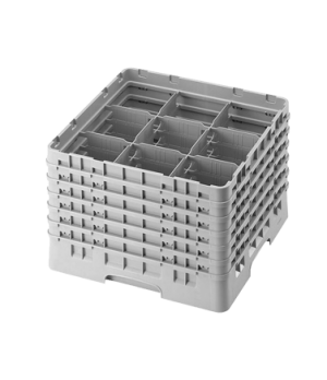 """Camrack® Glass Rack, with 6 extenders, full size, 9 compartments, 5-7/8"""" max. di"""