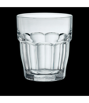 "Bar Double Old Fashioned Glass, 13-1/4 oz., 3-1/2"" x 4"", tempered & stackable gl"