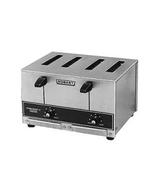 "Toaster, Pop-Up, 4-slice bread toaster, 1"" wide slots, approximately 290 slices/"