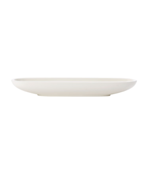 "Olive Bowl, 11""L x 3""W, oblong, white, premium porcelain, Artesano"