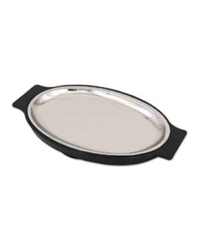 "Platter Only, 10-8/9"" x 7.1"", oval, fits SO128U, stainless steel"