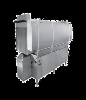 Dishwasher, Conveyor Type, high temperature sanitizing, single tank design (wash