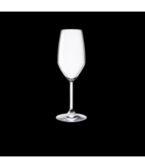 Flute Glass, 8 oz., crystal, non-lead, laser cut, Bormioli, Restaurant (USA stoc