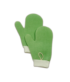Hygen™ All Purpose Mitt with Thumb, microfiber, green
