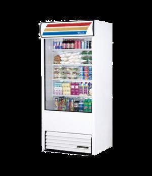 """Vertical Air Curtain Merchandiser, 36""""L, 80-5/8""""H, (4) white PVC-coated shelves,"""