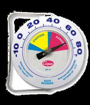 "Environmental Freezer Thermometer, 6"" (152.4mm) dia. dial type, temperature rang"
