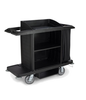 "Xtra™ Housekeeping Cart, 60""L x 22""W x 50""H, full size cart with vinyl bag, vacu"