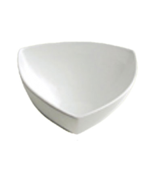 "Bowl, 76 oz. (2.3 liter), 9-1/4"" (23 cm), triangular, Le Buffet, white"
