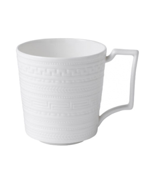 Intaglio Mug, dishwasher safe, bone china, white