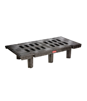 "Dunnage Rack, Slotted, 30"" x 60"", 2000 lb capacity, 12"" high deck, heavy duty al"