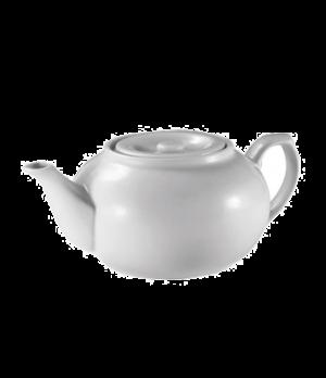Teapot, 16 oz., porcelain, white