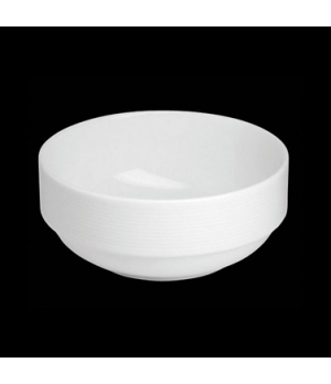 "Bowl, 20 oz., 5-1/4"" dia. x 2-1/4""H, round, stackable, porcelain, Tria, Wish (mi"