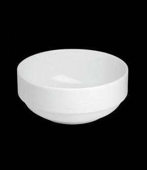 "Bowl, 20 oz., 5-1/4"" dia. x 2-1/4""H, round, stackable, porcelain, Tria, Wish (mi"