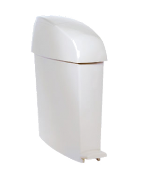 TC Sanitary Waste Bin, 3 gallon, white (sold in case quantities only)