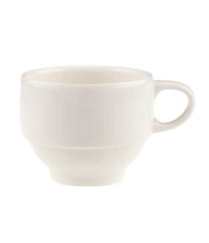 Cup #4, 6 oz., stackable, premium porcelain, Dune