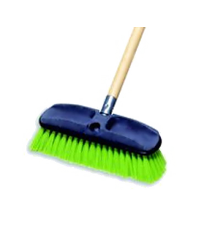 Wash Brush, plastic block, tampico fill, yellow