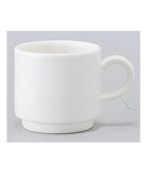 Cup #4, 6 oz., stackable, premium porcelain, Easy White
