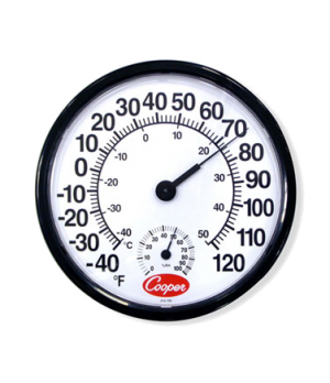 """Indoor/Outdoor Wall Thermometer, 12"""" dia. (30.5cm) dial, temperature range -40 t"""