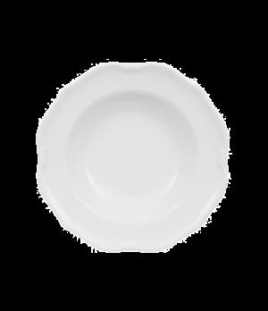 """Rim Soup Plate, 9-1/2"""", deep, premium porcelain, La Scala (DE Stock)"""