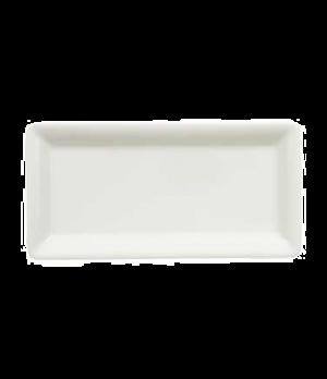 "Platter, 9-1/2"" x 4-3/4"", rectangular, premium porcelain, Pi Carre"