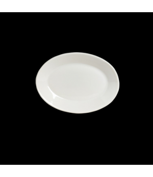 "Platter, 9-3/8"" x 6-1/2"", oval, rolled edge, fully vitrified china, Anfora, Amer"