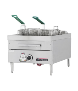 "E24 Series Fryer, electric, 18"" W, countertop, twin nickel-plated perforated bas"