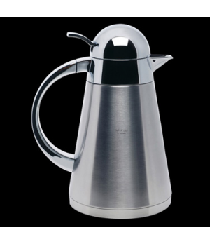 Coffee Pot, 34 oz., with lid, insulated, satin base, stainless steel, La Tavola,