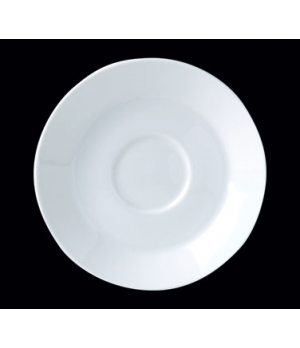 "Saucer, 6"" dia., round, single well, Distinction, Monaco White (Canada stock ite"