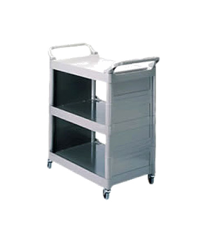 "Utility Cart, 3 shelves, 33-5/8""W x 18-5/8""D x 36-3/4""H, smooth surface, handles"