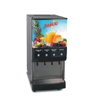 37300.0006 JDF-4S Silver Series® 4-Flavor Cold Beverage System, (3) 12 oz. drink