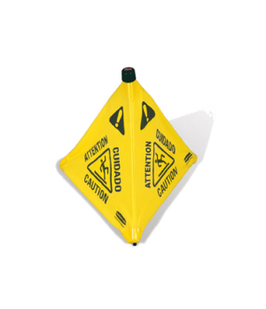"Safety Cone, ""Wet Floor"", 20"" pop-up, yellow"