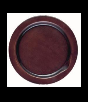 "Underliner, 10"" dia., operating temperature 200° F (93° C), wood, walnut stain"