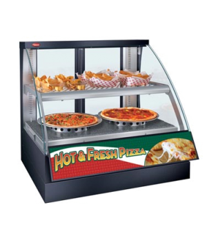 Flav-R-Savor® Heated Display Case with Humidity, Curved Glass, countertop design