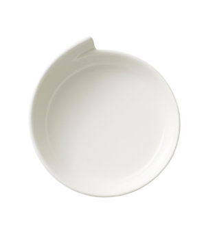 "Presentation/Gourmet Plate, 11-1/4"" dia., narrow rim, free form, dishwasher & mi"