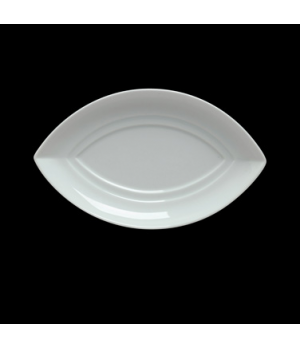 "Saucer, 6-1/2"", for small & medium oval bowl, porcelain, Duo, Rene Ozorio (P343,"