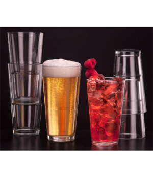 Mixing Glass, 14 oz., stackable glass, clear, DuraTuff®, Restaurant Basics (H 5-
