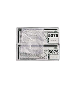 "Polyliner Bags, 45-56 gallon, 43""W x 49""L, high density coreless roll, star seal"