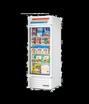 Freezer Merchandiser, one-section, -10° F, (4) shelves, white exterior, trim, &