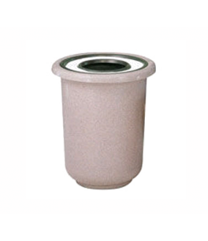 Galleria Sand Top Ash/Trash Receptacle, 22 gallon, fiberglass, rigid plastic lin