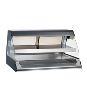 "Halo Heat® Heated Two-Tier Display Case, countertop, 48"" L, self-service, open f"