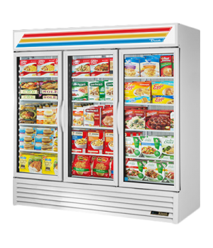 Freezer Merchandiser, three-section, True standard look version 01, -10° F, (12)