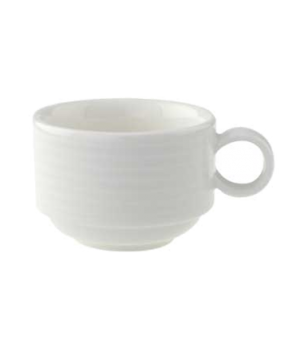 Cup, 3-1/3 oz., stackable, premium porcelain, Perimeter