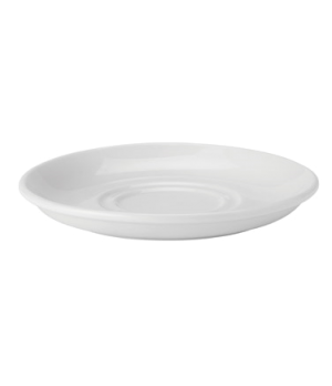 "Saucer, 6"" (15 cm), double well, microwave & dishwasher safe, Pure White"