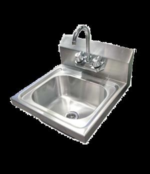 "(22122) Hand Sink, wall mount, 13-3/4"" x 9-3/4"" x 5-1/2"" bowl, 4"" gooseneck fauc"